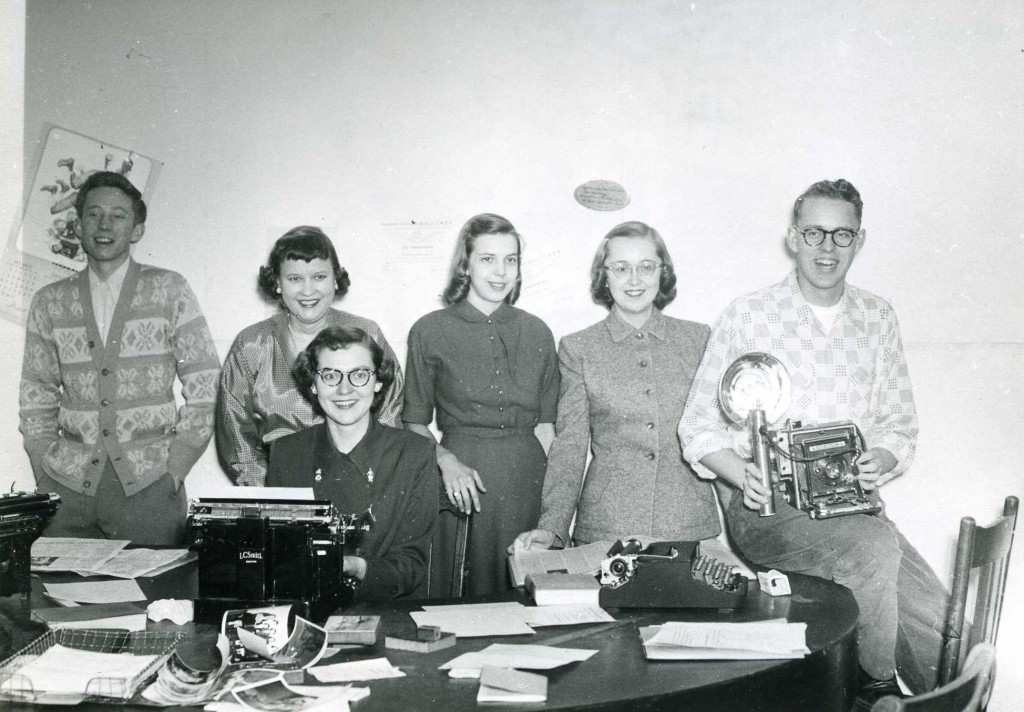 The Concordian section editors and photographer during the 1951-1952 academic year. Courtesy of the Concordia College Archives.