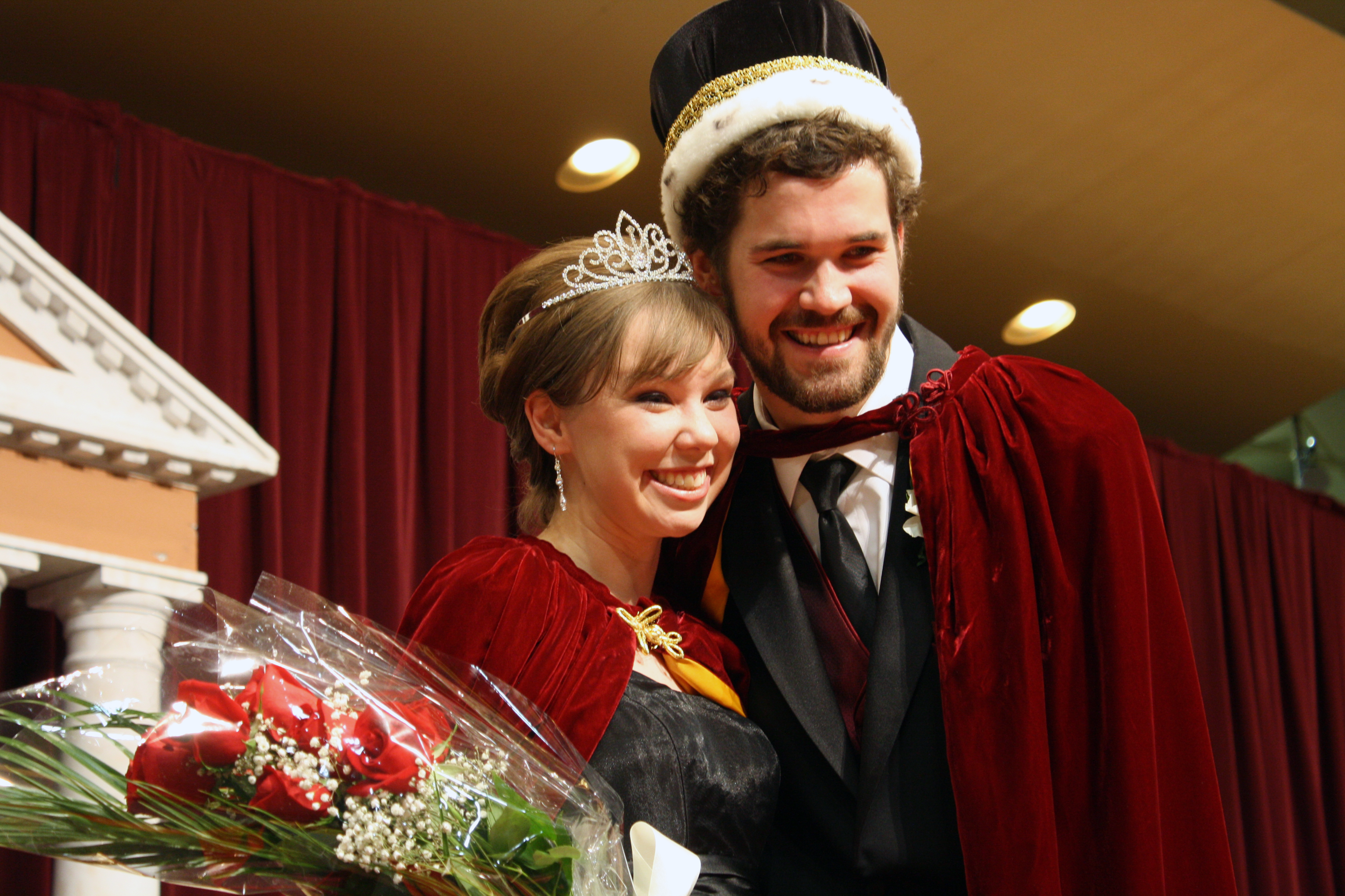 Photo by Rachel Torgerson. Seniors Elise Tweten and Skyler Vilt were crowned Homecoming Queen and King at the coronation ceremony on Oct. 11.