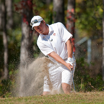 Photo taken from Concordia Athletics website. Senior golfer Patrick Dietz competes at the MIAC Championship.