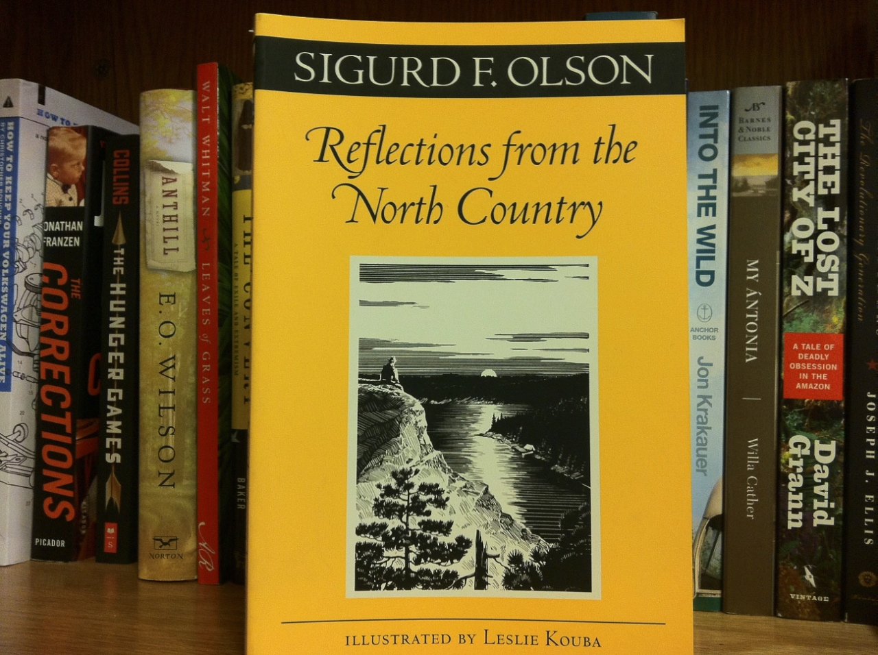 "Photo by Matt Hansen. Sigurd F. Olson's ""Reflections from the North Country"" explores the beauty of the Minnesotan wilderness. Sigurd has written over nine books, but most of the writings this collection contains were meant to sway government officials in hearings about the importance of preserving nature."