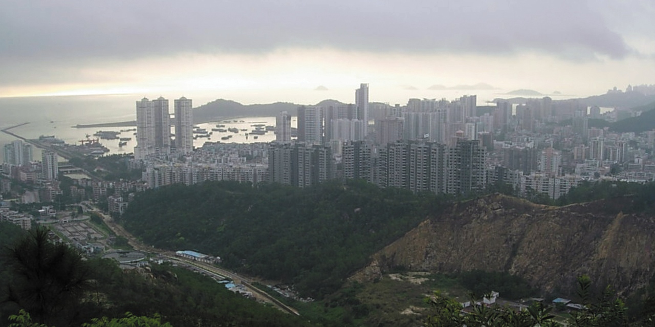 Photo submitted by Doug Anderson. High rises and skyscrapers line the coast of Zhuhai, China, the city that hosts the United International College. UIC partners with Minnesota private colleges to allow students to study in both countries.