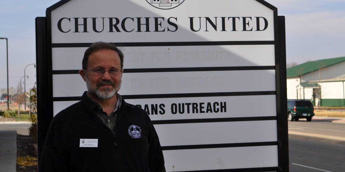 Photo by Marisa Jackels. John Roberts, director of shelter operations at Churches United for the Homeless, said the number of homeless individuals in the area is on the rise.