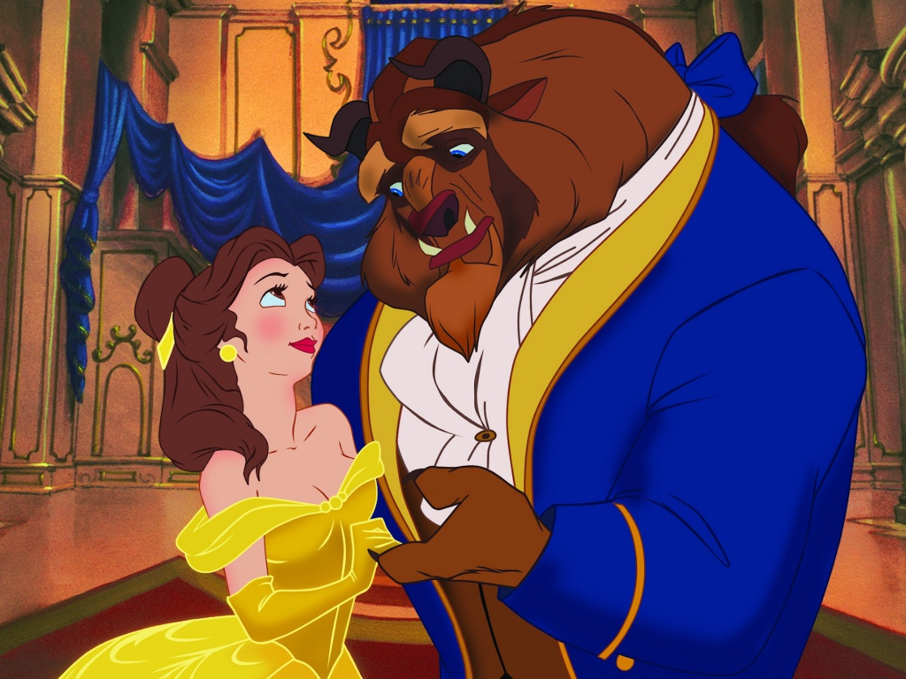 "Photo courtesy of DisneySongLyrics.com. One of the most iconic scenes of ""Beauty and the Beast"" features Belle and the Beast dancing to the title song  of the film."