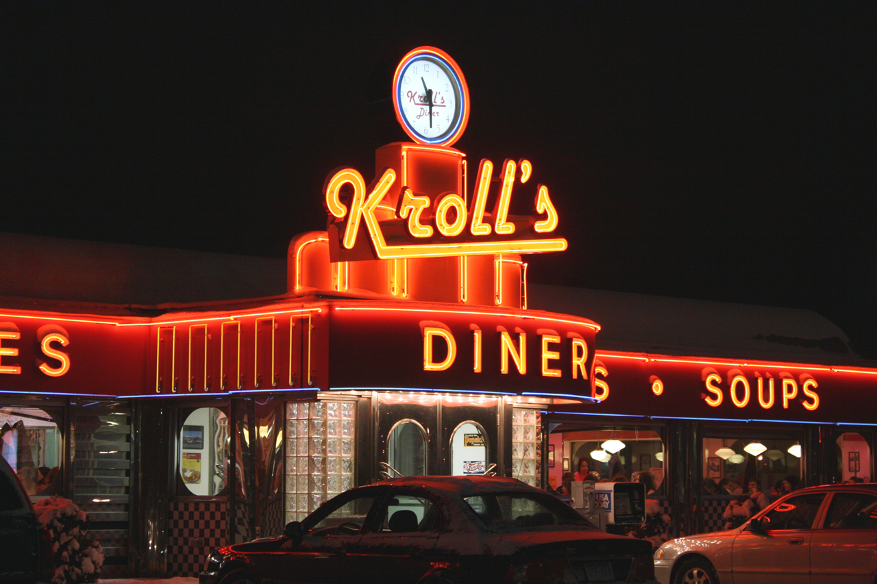 "Photo by Rachel Torgerson. Kroll's Diner in FArgo is known for its ""Shakey Mondays,"" which offer two-for-one shakes on Mondays, a popular deal for many college students. The restaurant just hired tow new Kroll's Ladies to be spokeswomen for the retro-themed joint."