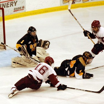 Photo from GoCobberBlog.com. Sophomore Breann Julius scored two goals against Gustavus, helping the Cobbers tie 3-3 in overtime.