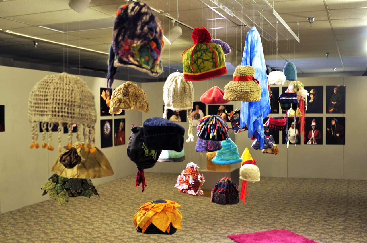 The concordian local artist promotes cancer talk through for Hat display ideas for craft shows