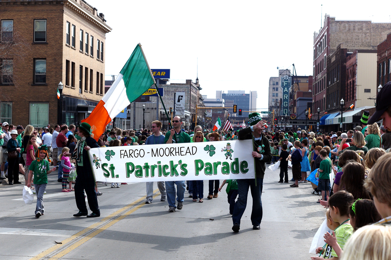 Photo by Zachary Forstrom. People of all ages turned up to Broadway in Fargo to show their Irish pride for the annual St. Patrick's Day Parade last Sunday.