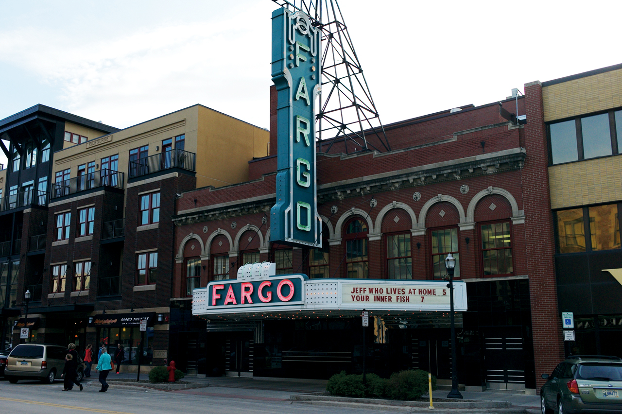 Photo by Zach Forstrom. The Fargo Theatre served as the red carpet for Concordia's English Film and Literature Capstone course, taught by professor Dr. Dawn Duncan, that showed four short films.