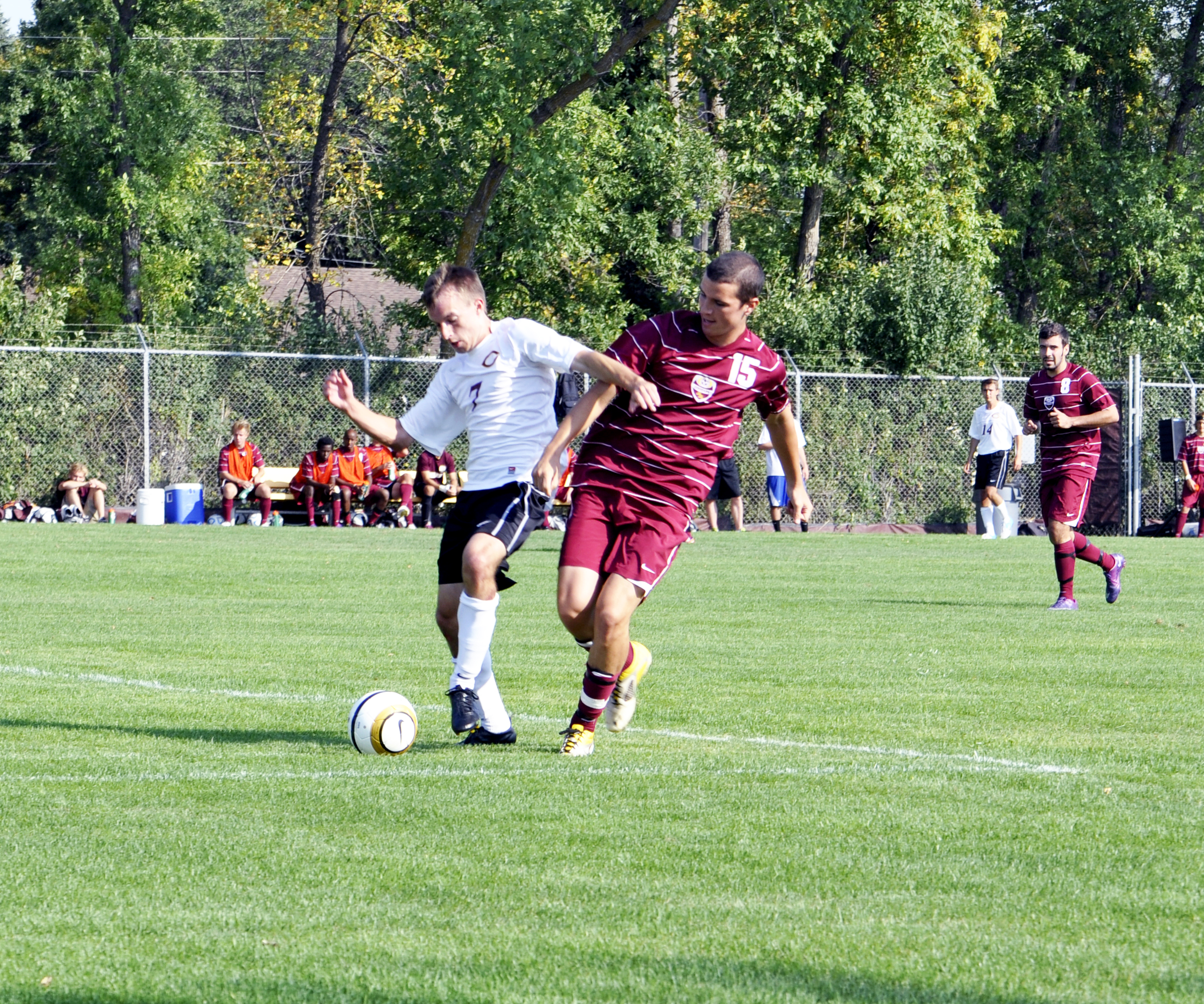 Photo by Jamie Telander. Concordia's men's soccer team kickstarted the year with a new coach.
