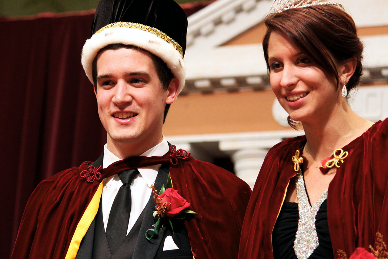 Photo by Mary Henning. Joel Leeman and Stephanie Barnhart were crowned this years's homecoming king and queen.
