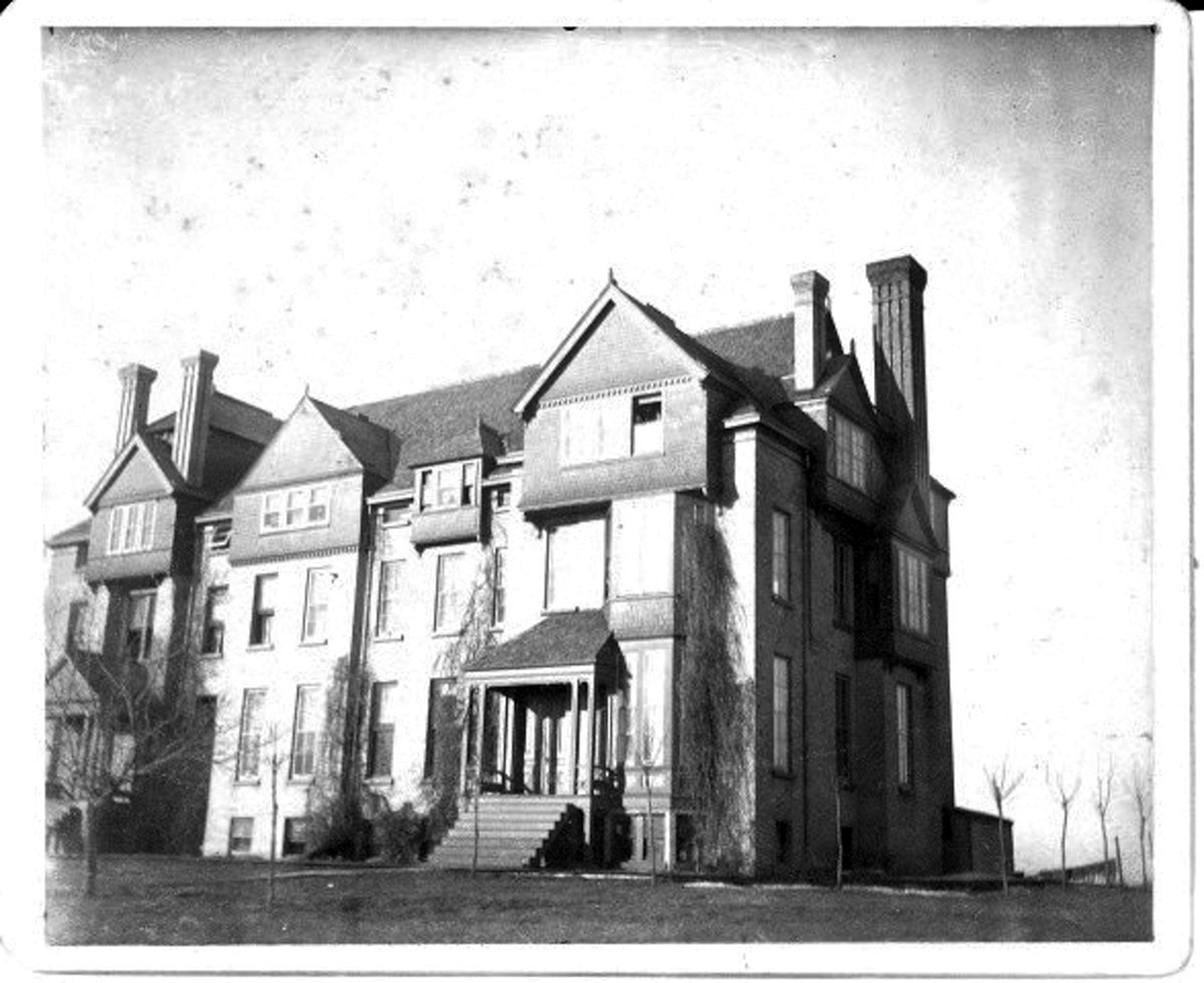 "Submitted photo. Bishop Whipple, as shown above in the 1800s, was purchased in 1891 and was originally termed the ""main building"" on campus."