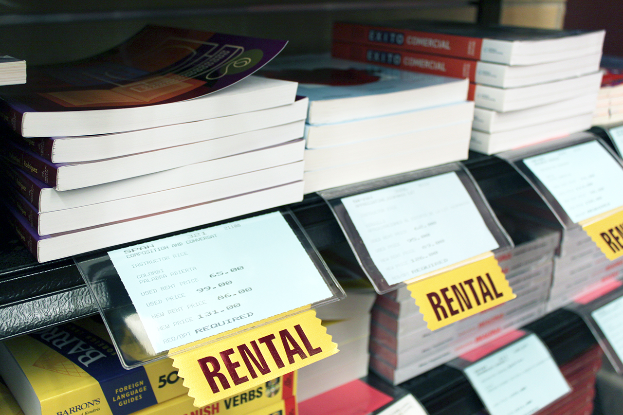 Photo by Mary Henning. The Cobber Bookstore announced an extended selection of rental textbooks for the spring semester 2013.