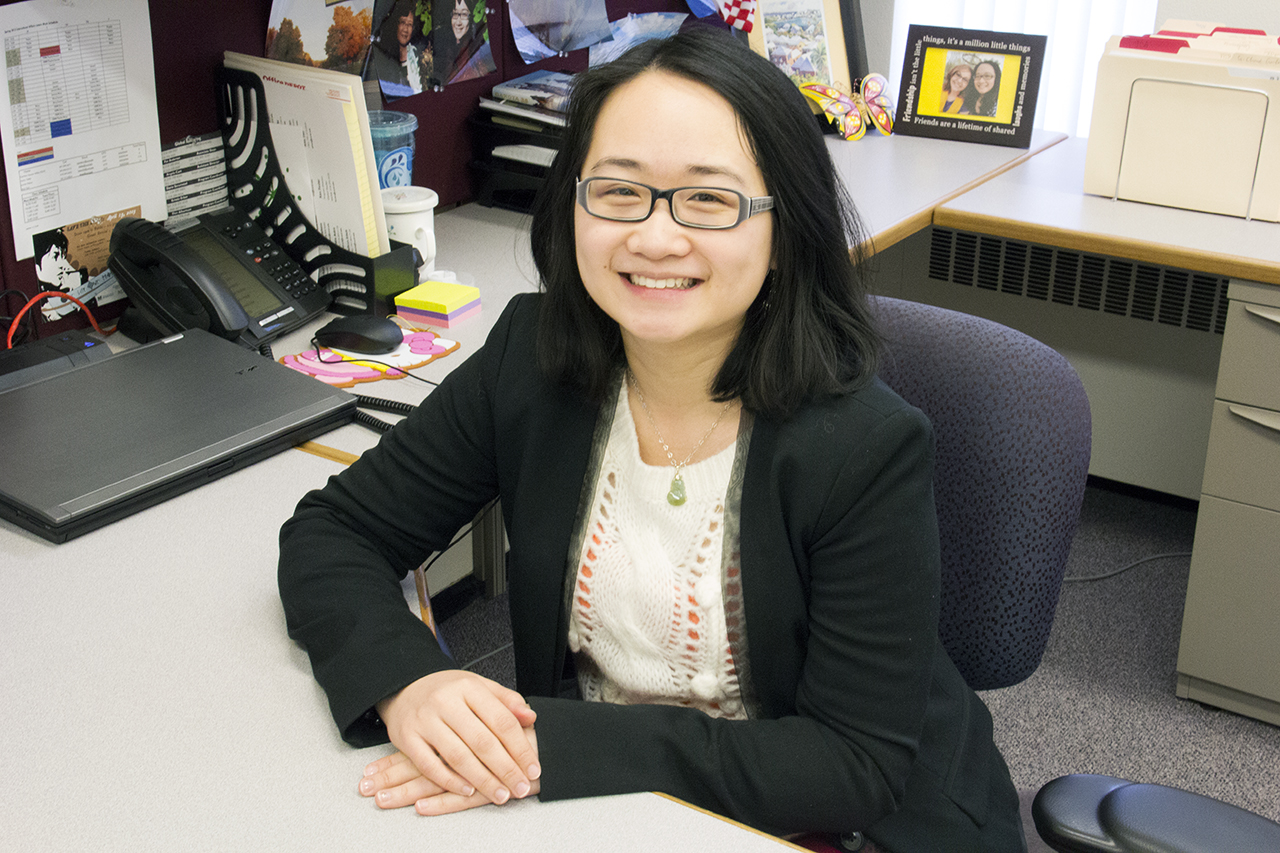 Photo by Olivia Gear. Susana Lu is the new assistant director for the Office of Intercultural Affairs and will work on programs to help maintain ties to the Fargo-Moorhead Community.
