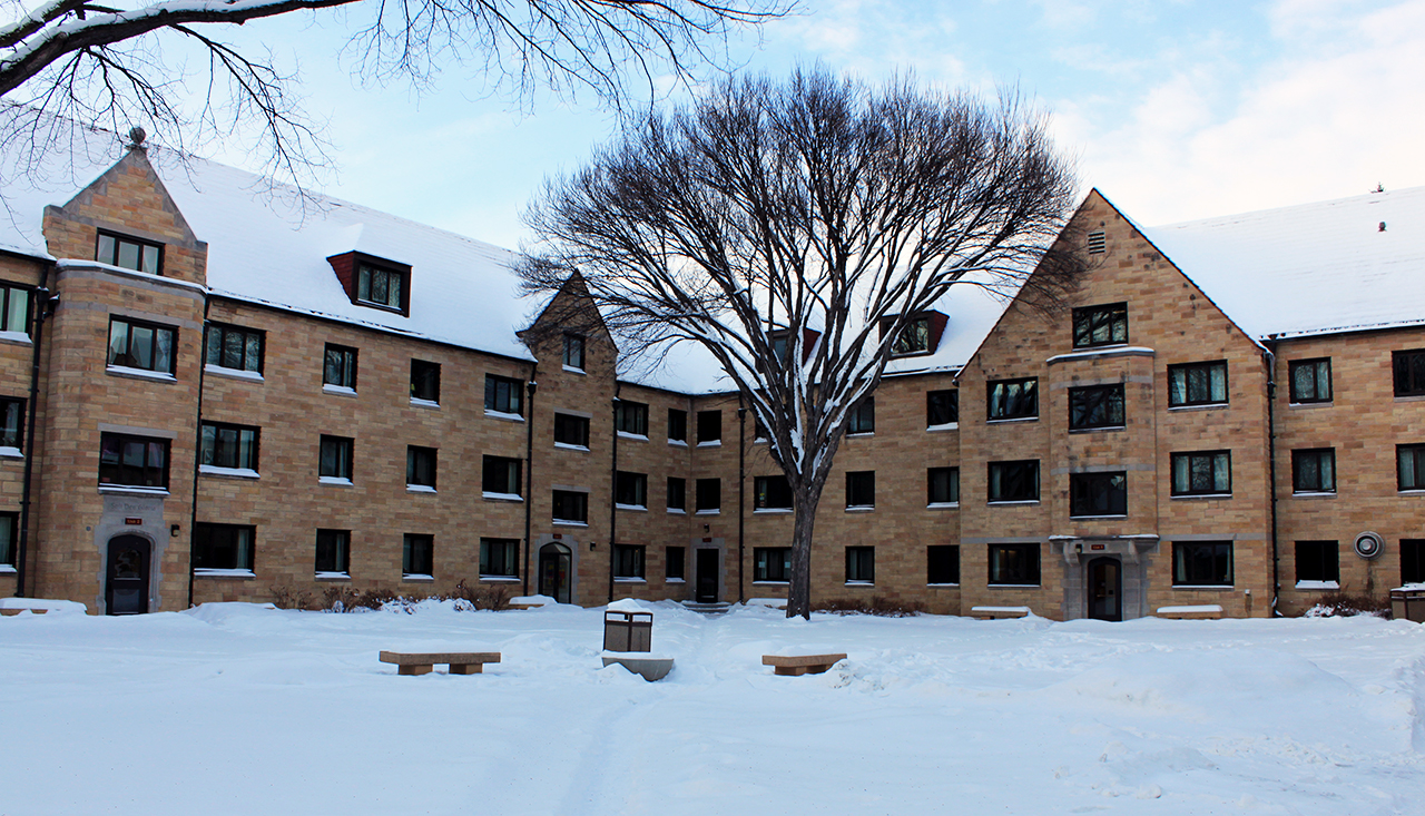Photo by Mary Henning. Brown Hall, currently under intervisitation regulations, will start the 2013-14 academic year with no such restrictions.