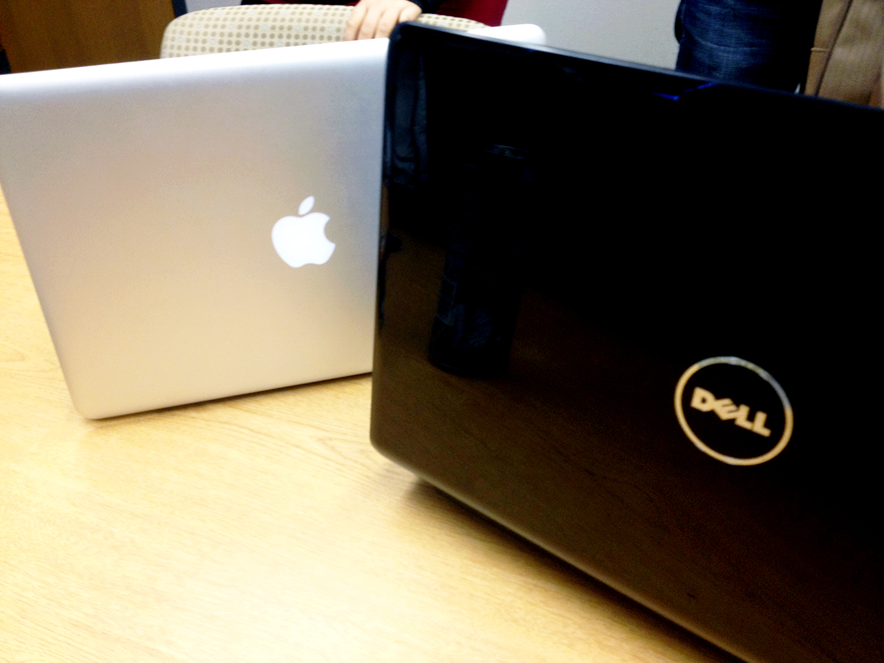 Photo by Emma Connell. While some professors encourage laptop use, others prohibit it during their classes.