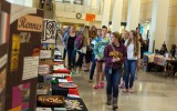 Students surveyed study abroad opportunities at the Global Learning Expo Sept. 17th. Photo by Chase Body.