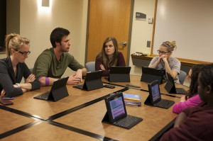 The SPIF committee deliberates during their first meeting of the semester. Photo by Chase Body.