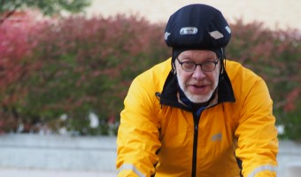 Professors commute by pedal and foot