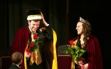 Coin Sullivan and Carly Grandner were crowned Homecoming King and Queen Monday night. Photo by Morgan Schlief.