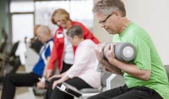 Welcyon Gym members enjoys being able to work out at a gym where they are surrounded by people their age. Submitted Photo.