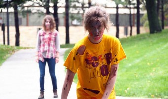 "Some students chose to dress up as zombies for Saturday's Zombie Run. Their job was to chase participants and attempt to rob them of their ""lives"" Photo by Morgan Schleif."