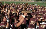 The cobber football team celebrates their win over St. Olaf Sept. 21 as well as the remaining possession of The Troll for another year. Photo submitted by Roger Tamm.