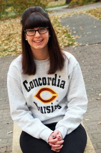 Sophomore Meghan Dickerson will begin her responsibilities as CSC commissioner next semester. Photo by Morgan Schleif.