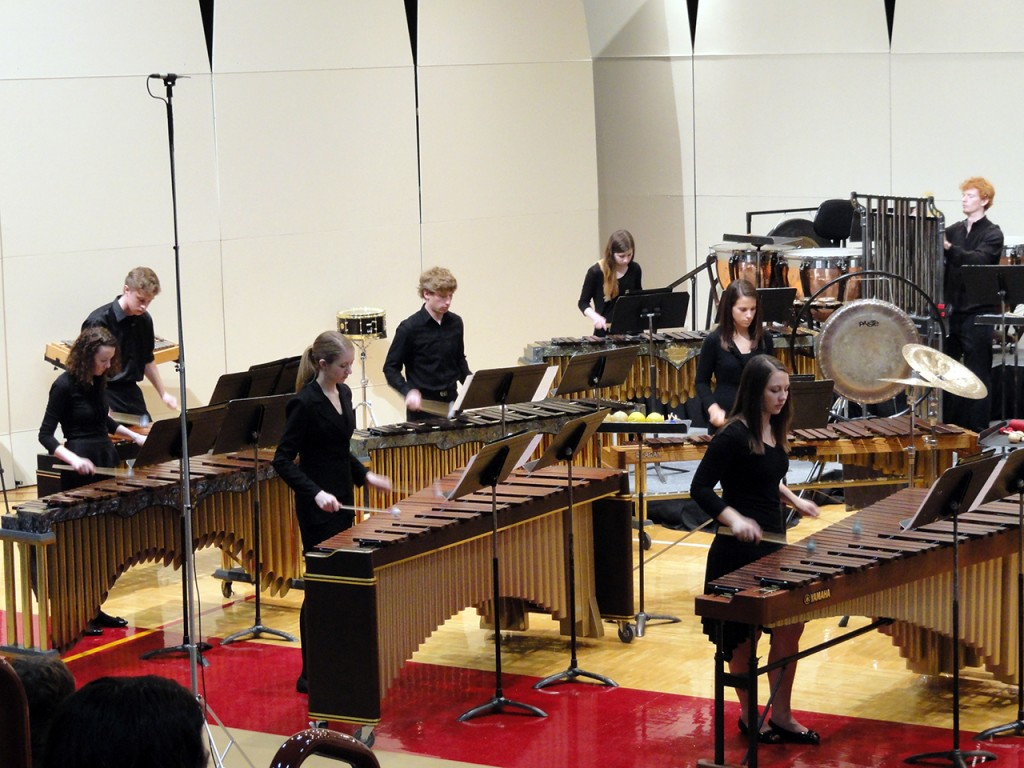 Concordia's Percussion Ensemble will travel to Indianapolis for an international drum convention taking place Nov. 15. Submitted photo.
