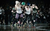 Members of the Fargo-Moorhead roller derby team say that one of their favorite parts of a bout is the physical contact with the other team. Submitted photo.