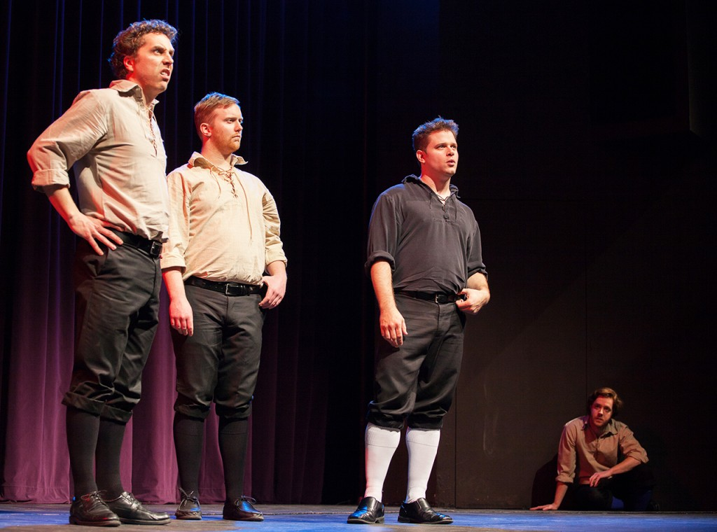 "Members of The Improvised Shakespeare Company perform ""Canada's Maple Syrup Day"", an idea suggested by an audience member. The group travels to various colleges, universities and performance venues to showcase their talent for Elizabethan comedy. Photo by Chase Body."