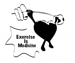 "Kristen Hetland, Physical Education and Health Department chair, says, ""Sitting is the new smoking, and exercise is the medicine."" Graphic by Morgan Schleif."