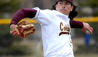 Senior Jackson Meland picthed all seven innings of the cobber's first game in Ne- braska. Coach Burgau was pleased with the teams progress and hopes to see im- provement in the players as the season progresses. Submitted photo.