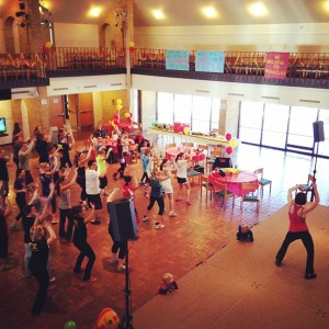 Attendees of Dance Marathon participate in the Zumba session during the event. Photos submitted by Ellie Beeson.