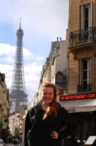 Staff writer and sophomore Karen Besonen toured Paris on the Urban Travel Writing explora- tion trip during spring break. Photo by Liv Ulring.