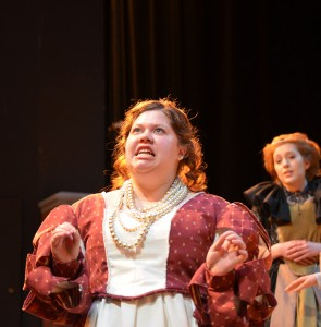 Senior Hannah Wehlage is performing the role of Beatrice for her senior thesis project. Photo by Liv Ulring.