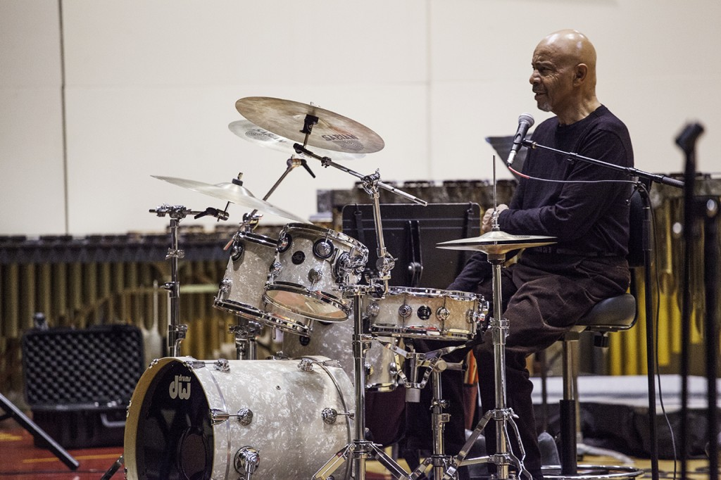 Famous drummer Chester Thompson performed with Concordia's Jazz I this past Saturday. Photo by Bobby Person.