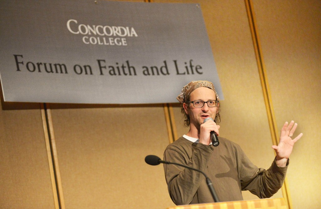 Shane Claiborne shared his lessons learned through years of activism. Submitted photo.