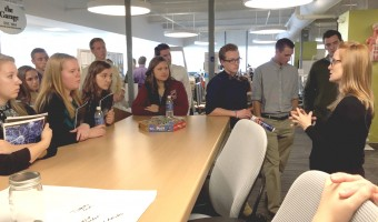 Students get a behind-the-scenes tour of the hospital's facilities. Photo by Maddie Malat.