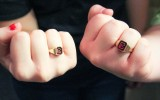 Students show off their new Cobber rings. Photo by Reilly Myklebust.