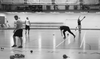 Concordia track and field throwers during an afternoon practice. Photo by Maddie Malat.