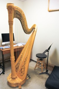 The Venus concert grand harp. Photo by Reilly Myklebust.