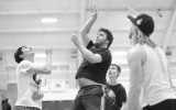 Concordia men face off in Sunday night intramural basketball from 6 to 10 p.m. Photo by Maddie Malat.