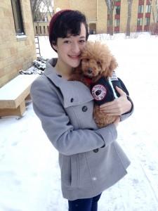 Liz Bartels with her service dog, Donny. Photo by Katelyn Kassela.