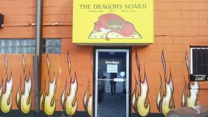 The Dragon's Hoard opened in October of 2015. Located on Eighth St. and Main Avenue, the game shop sells trading cards, RPGs and board games while providing a space for people to play games and embrace their inner nerd. Photo by Kaley Sievert,.