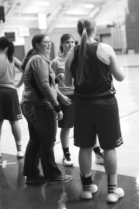 Student manager Hailey Kreft managed basketball for five years at her high school before coming to Concordia and managing the women's basketball team. Photo by Maddie Malat.