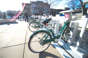 Example bike share rack located in Downtown Fargo. Submitted.
