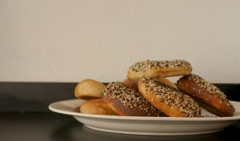 A plateful of BernBaum's traditional Jewish New York deli bagels. Photo by James Harvey.