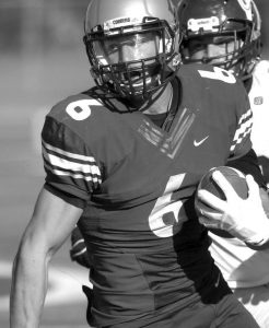 Brandon Zylstra joined the Cobber football team in 2013. Zylstra played as a receiver and had 1932 receiving yards as a Cobber. Photo courtesy of the Concordia Sports Information Office.