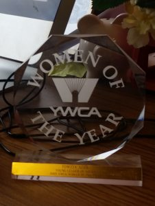Adde's award sits on her desk at IDC. Photo by Katie Beedy.