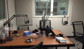 The main studio at Prairie Public Radio. Photo by Marit Johnson.